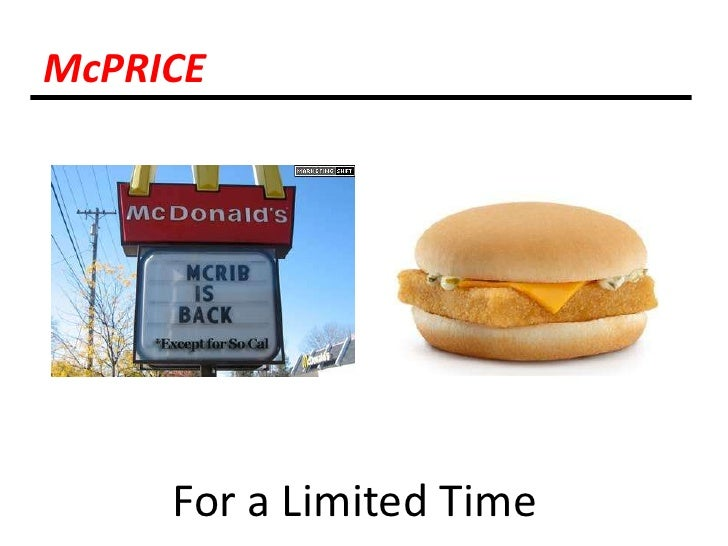 McPRICE<br />For a Limited Time <br />