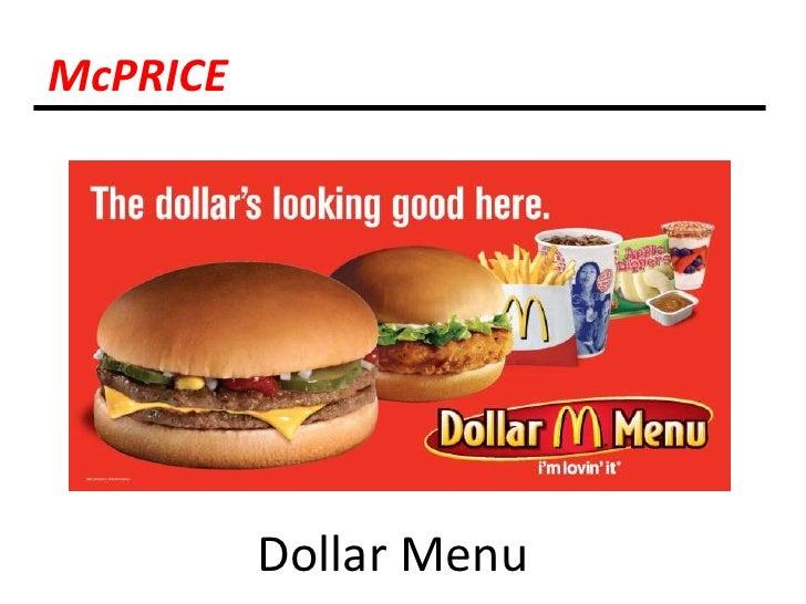 McPRICE<br />Dollar Menu<br />