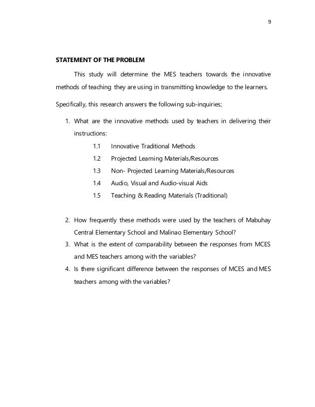 Innovative Teaching Methods Used by the Teachers (Chapter 1