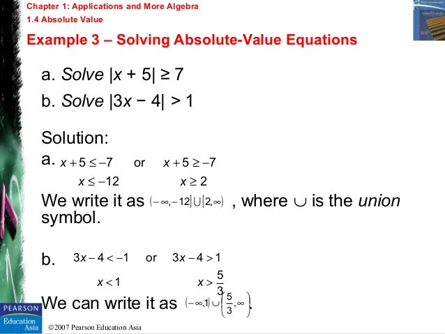 how to write an absolute value equation with given solutions staffing
