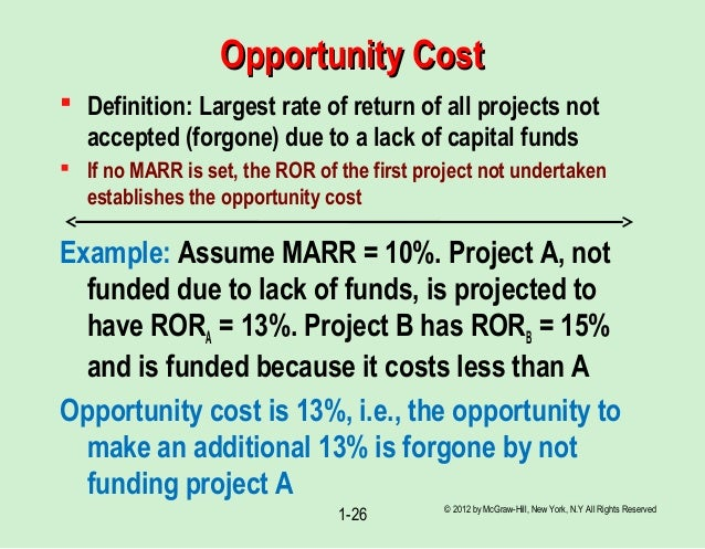 define opportunity cost and explain its Explain the concepts of scarcity and opportunity cost and how they relate to the   it is within the context of scarcity that economists define what is perhaps the.