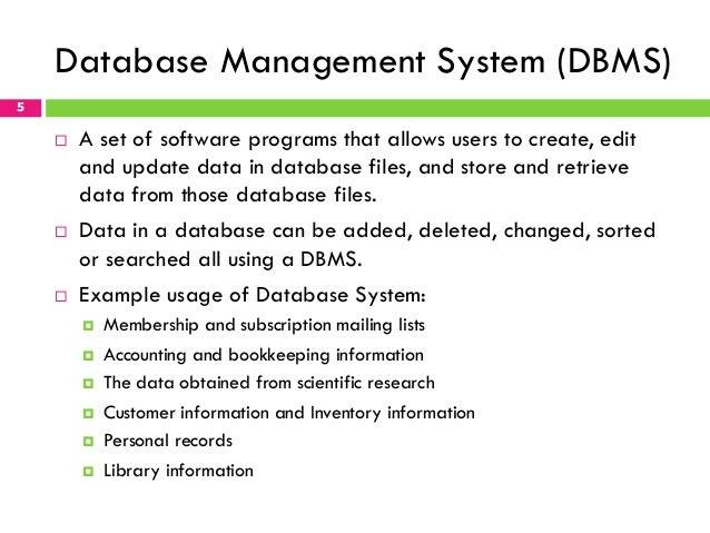 Chapter 1 Fundamentals of Database Management System