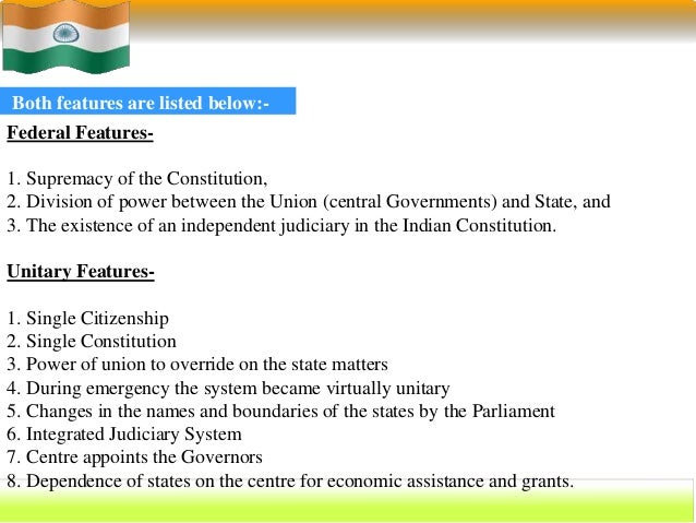unitary government in india