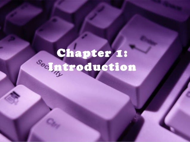 Chapter 1: Introduction  1