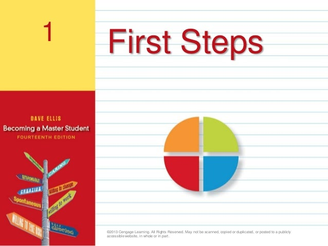 1                                      First Steps                                           ©2013 Cengage Learning. All R...