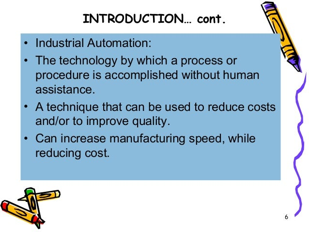 Chapter 1 introduction to automation