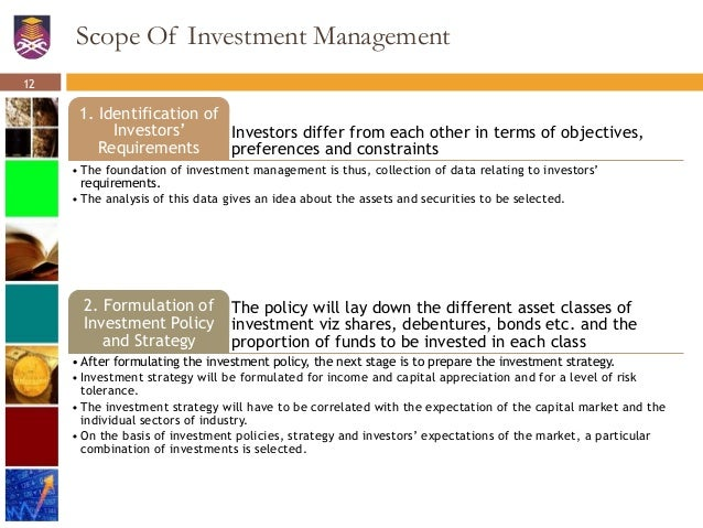 scope of investment management