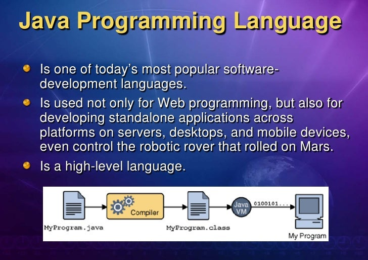Chapter 1. java programming language overview