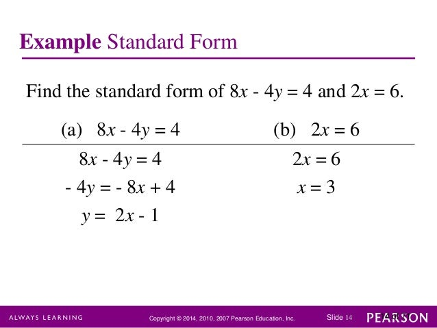 Chapter 1 linear equations and straight lines
