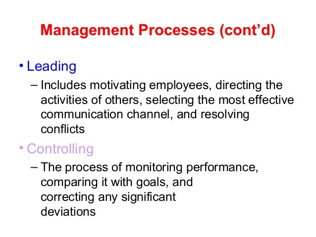 chapter 1 the manager and 3 learning outcomes after studying this chapter, you should be able to: define organization and management explain the importance of management.