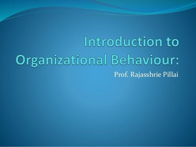 Prof. Rajasshrie Pillai
