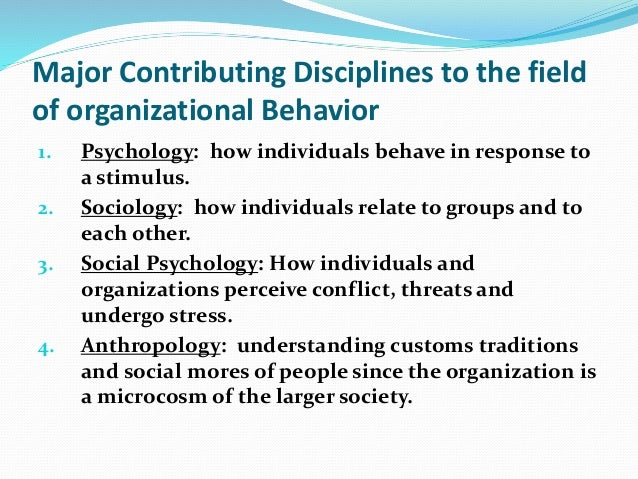 Chapter 1 Organizational Behaviour