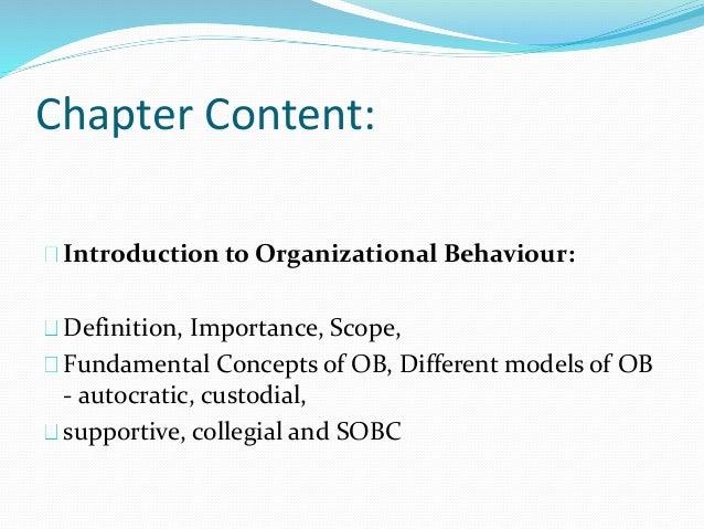 Chapter 1  Organizational Behaviour  Slide 2