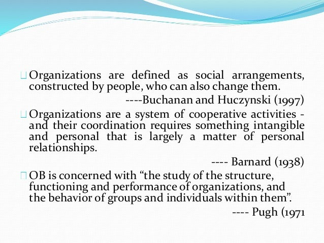 chapter organizational behaviour 8 organizations are defined