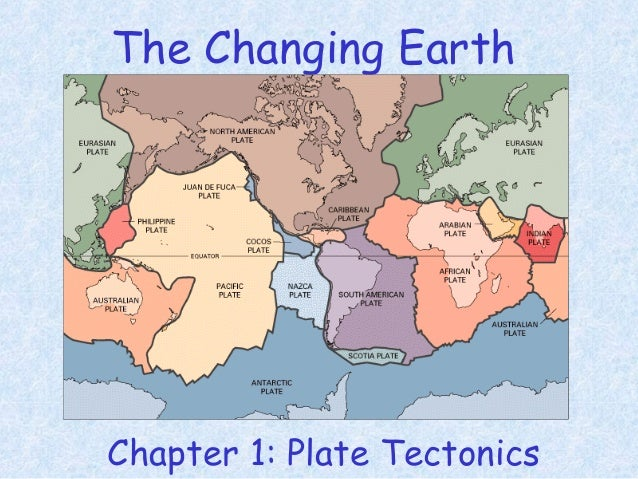 The Changing Earth Chapter 1: Plate Tectonics