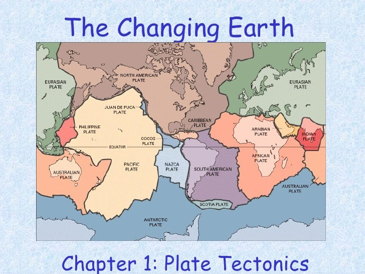 The Changing Earth <ul><li>Chapter 1: Plate Tectonics </li></ul>