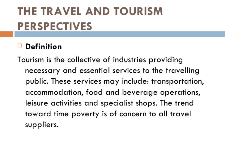 Chapter 1 profile of tourism and hospitality
