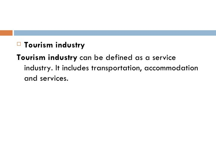 transportation in tourism industry definition
