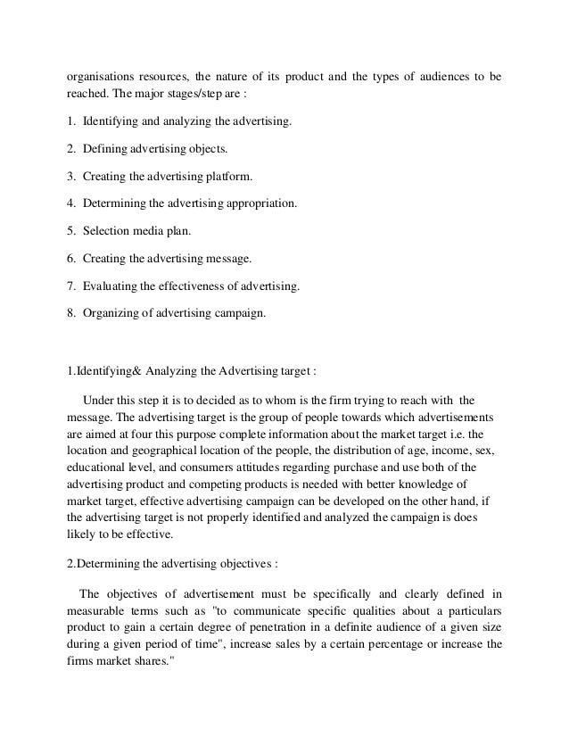 """project report on advertising effectiveness A project report on """"a study on advertising effectiveness""""  submitted in partial fulfillment of the requirements for the award of master  degree."""