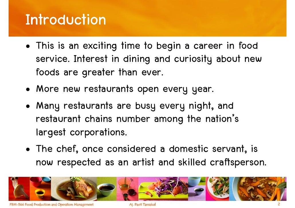 Chapter 1 - The Foodservice Industry Slide 2