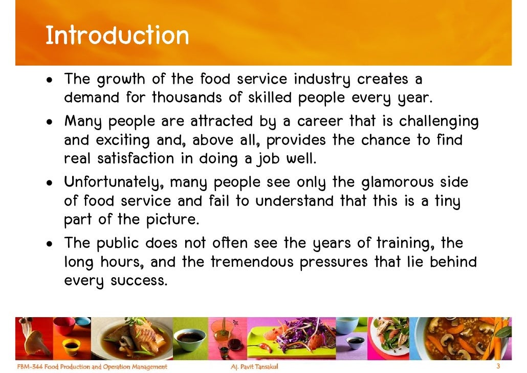 Chapter 1 - The Foodservice Industry Slide 3