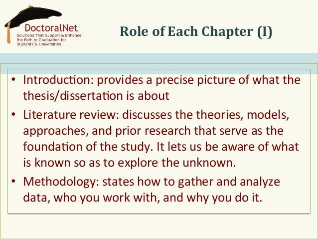 what goes in chapter 1 of a dissertation A suggested format for chapter 1 of the dissertation  introduction/background a general overview of the area or issue from which the  problem.