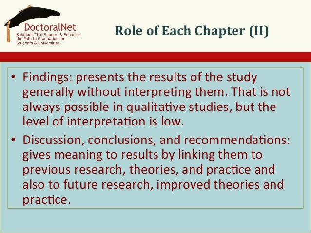 thesis chapter 4 findings Chapter four qualitative research 39 r 40 chapter 4 qualitative research some findings from qualitative research are useful in their own right.