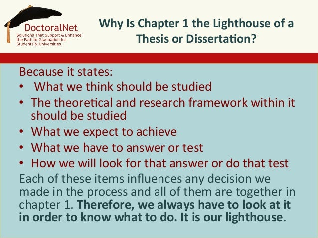 chapters of the dissertation What makes a good introduction for a dissertation graduate students practice  critiquing one another's thesis chapters, but they rarely read the.