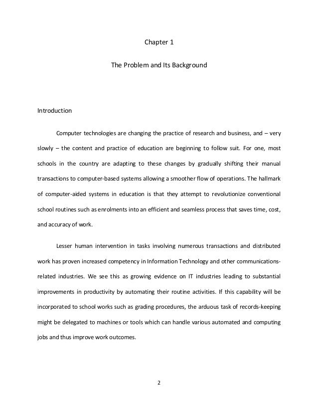 thesis chapter 1 to 5 pdf