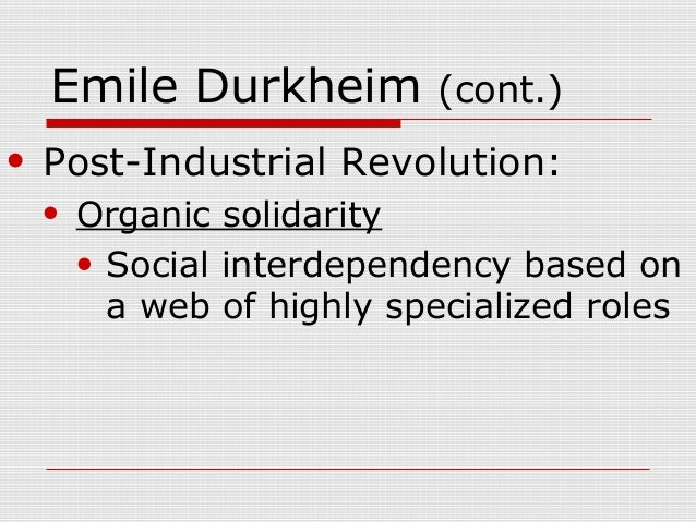 sociology and the industrial revolution Sociology as a scholarly discipline emerged primarily out of the enlightenment  thought, shortly after the french revolution, as a positivist science of society   witnessing the struggles of the laborers during the industrial revolution, marx.