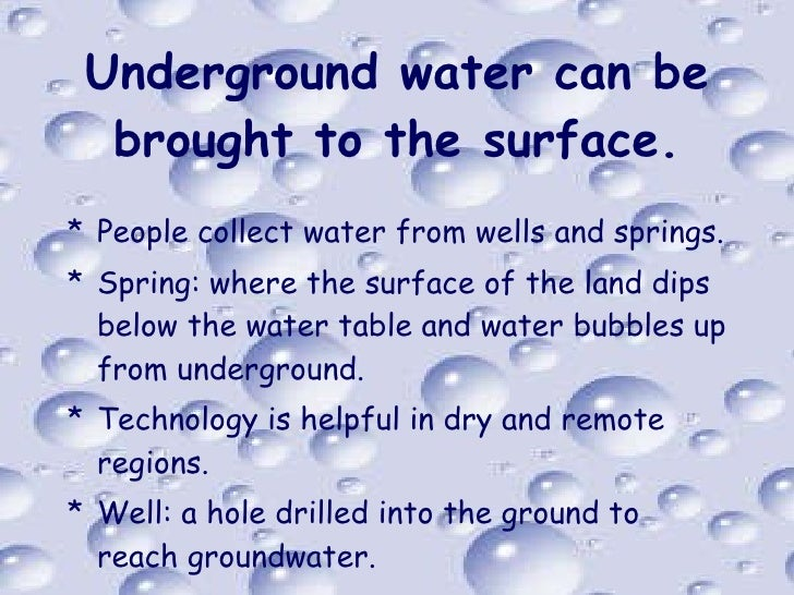 Ground Water Naturally Bubbles To The Surface At
