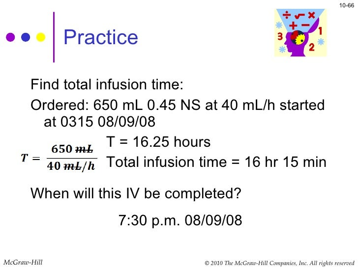 Intermittent infusion time