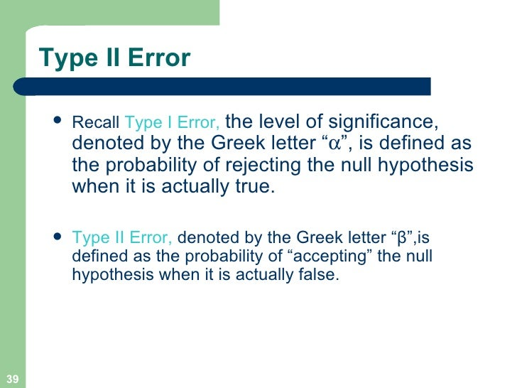 Null Hypothesis Greek Letter