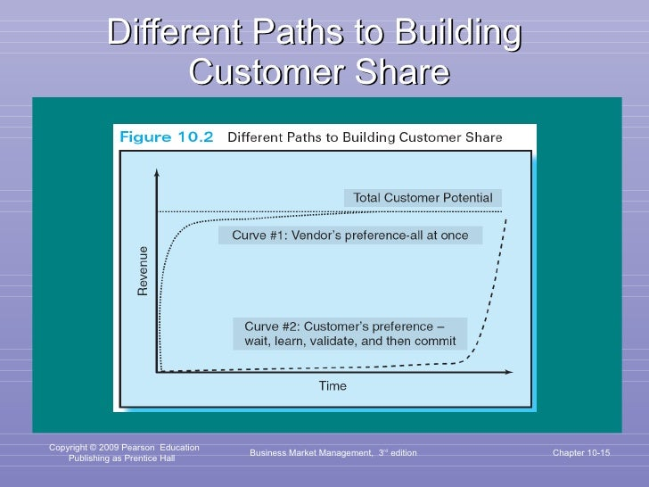 Different Paths to Building  Customer Share Business Market Management,  3 rd  edition Chapter 10-