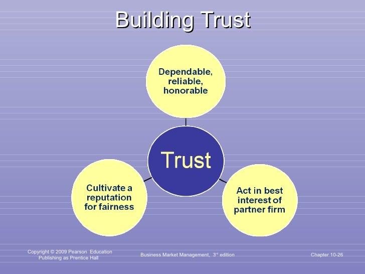 Building Trust Business Market Management,  3 rd  edition Chapter 10-