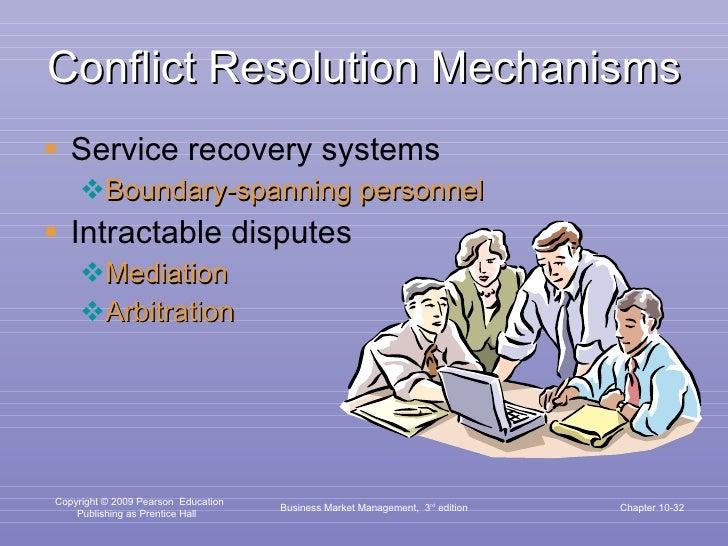 Conflict Resolution Mechanisms <ul><li>Service recovery systems </li></ul><ul><ul><li>Boundary-spanning personnel </li></u...