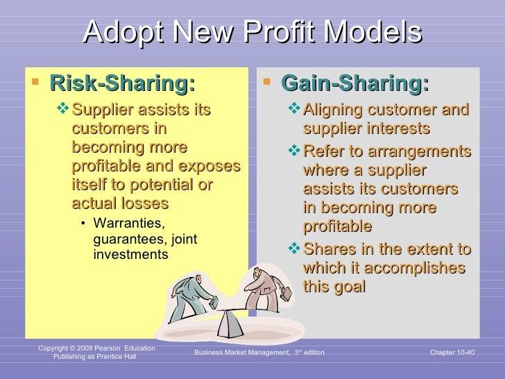 Adopt New Profit Models <ul><li>Risk-Sharing: </li></ul><ul><ul><li>Supplier assists its customers in becoming more profit...