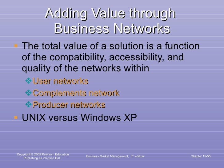Adding Value through  Business Networks <ul><li>The total value of a solution is a function of the compatibility, accessib...