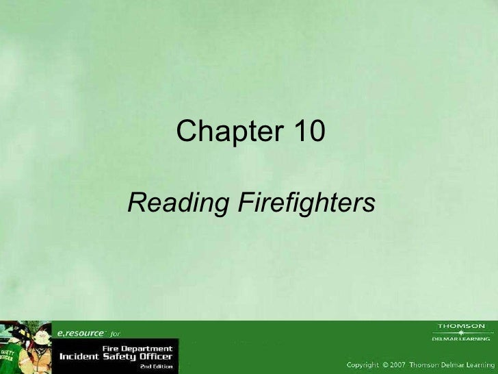 Chapter 10 Reading Firefighters