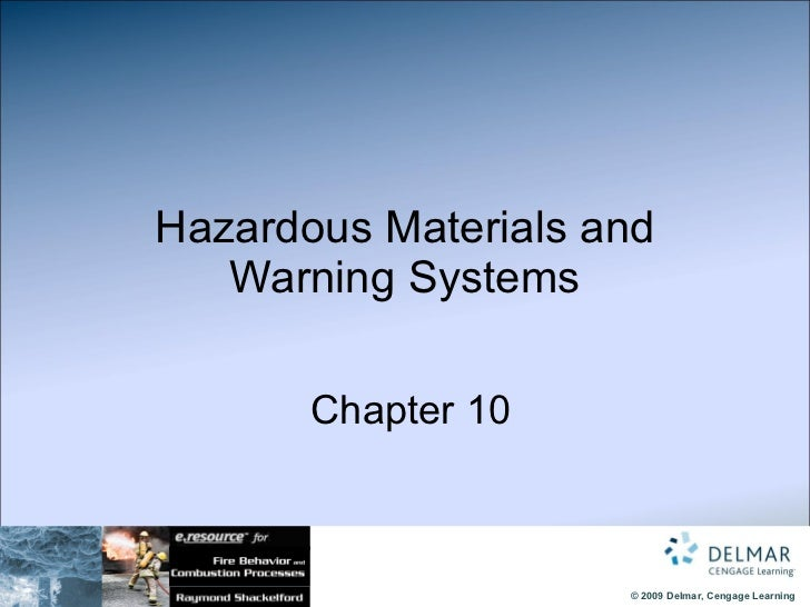 Hazardous Materials and Warning Systems   Chapter 10