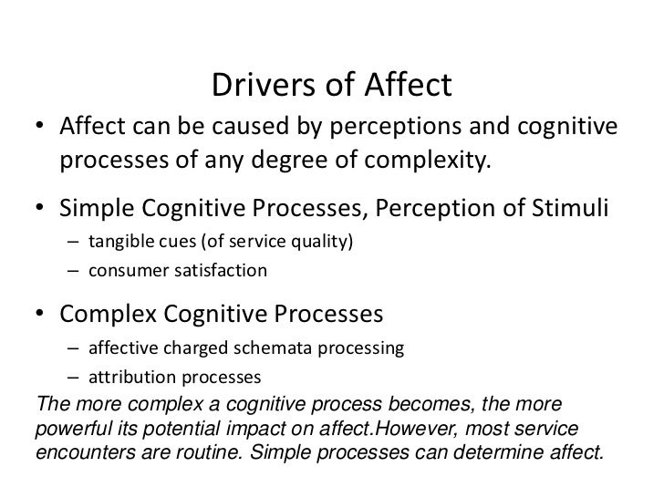 Cognitive Problem Symptoms, Causes and Effects