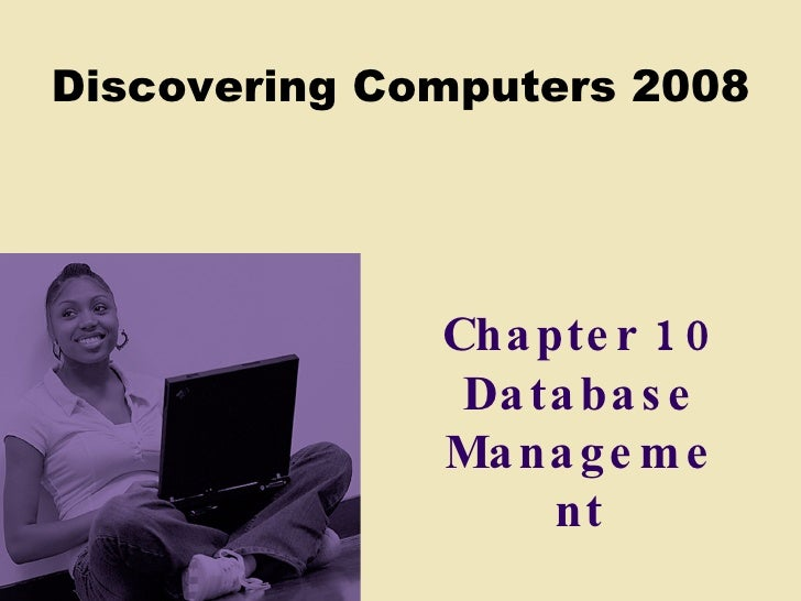Chapter 10 Database Management