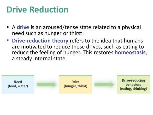 an analysis of four theories of motivation instinct theory sociobiology drive reduction theory and i