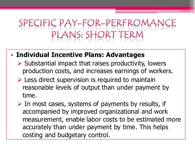 Pay-for-Performance Plan