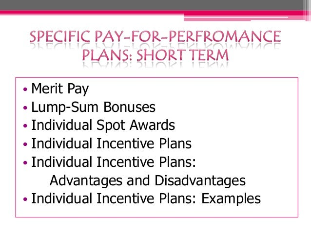 PayForPerformance Plan