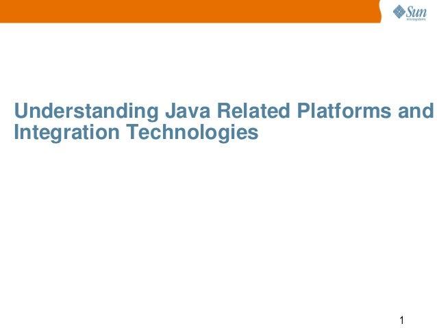 Understanding Java Related Platforms and Integration Technologies  1