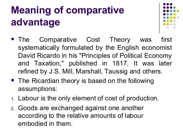 Comparative Advantage: Definition, Theory, Examples
