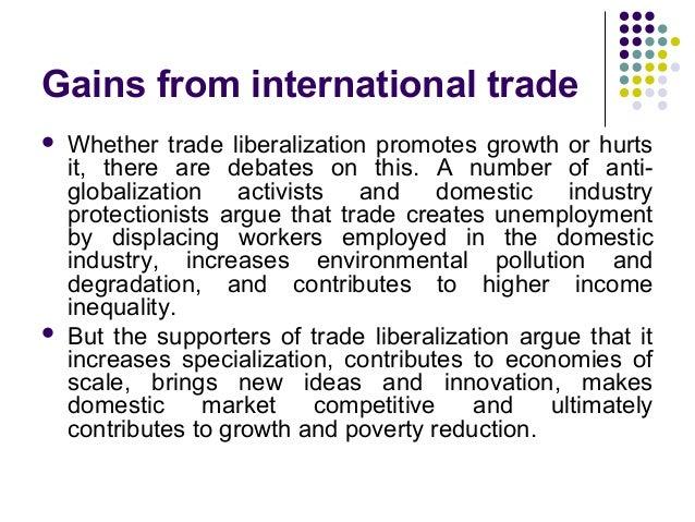 Debate balance of trade