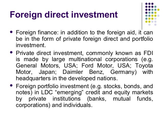 difference between foreign direct investment and international trade