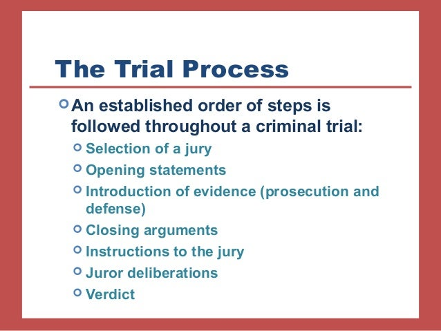 a defense statement presented in thee jury during a trial Scared, and 2) uncertain or confused many people do not know what happens during a jury trial lawyers for both sides will present an opening statement to the jury cases as it is believe by many defense counsel to be good strategy because north carolina court rules allow them to.